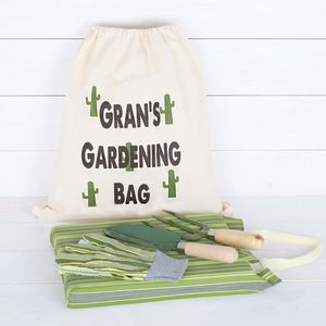 Gardening Set With Personalised Storage Bag - personalised gifts