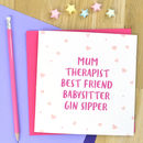 Personalised Mother's Day Card For Mum