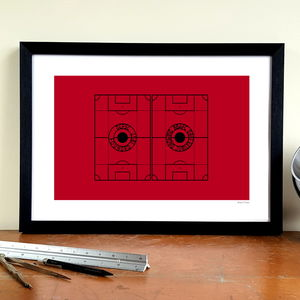 'Jubilee Gates' Minimalist Afc Bournemouth Art Print - activities & sports