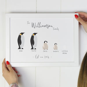 Family Penguin Print - animals & wildlife