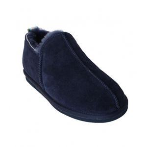 Navy Blue Lola Sheepskin Slippers - women's fashion