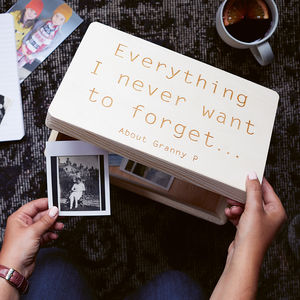 Personalised Wooden Keepsake Memory Box