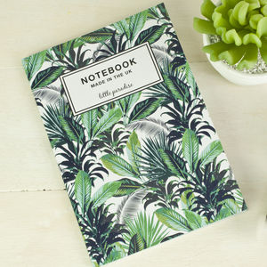 Tropical Palm Print Notebook - notepads & to do lists