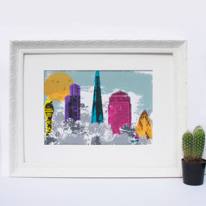 'Above The Clouds' London Original Screen Print - limited edition art