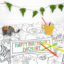 Colour In Tablecloths Animals *Personalise It Option