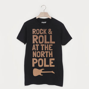 Rock And Roll At The North Pole Christmas T Shirt - christmas clothing & accessories