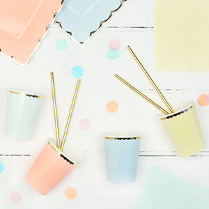 Pastel And Gold Party Cups - decoration