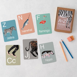 Animal Alphabet Flash Cards - 1st birthday gifts