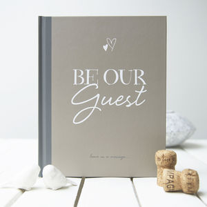 'Be Our Guest' Wedding Guest Book - summer sale