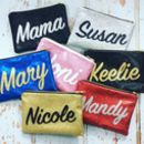 Personalised Name Glitter Clutch Bag Gift