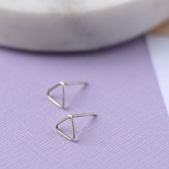 Triangle Studs Sterling Silver