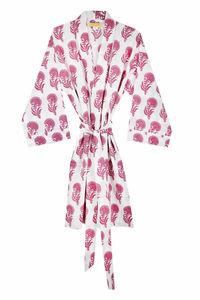 Aravalli, Pink Bathrobe - lingerie & nightwear