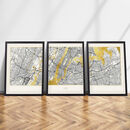 New York Triptych Map