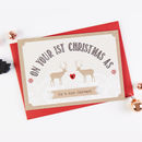 1st Married Christmas Card Husband Wife Stag
