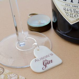 Personalised Gin Glass Charm