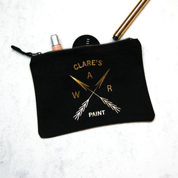 Personalised Cosmetic Bag Logo Make Up Bag War Paint
