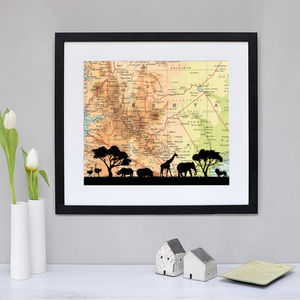 Personalised Safari Map Print - posters & prints