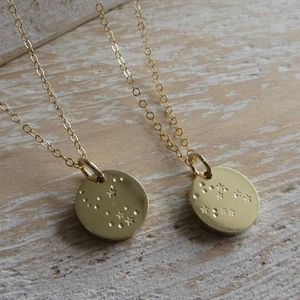 Brass Constellation Necklace - for best friends