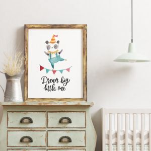 Dream Big Little One Circus Print - baby & child sale