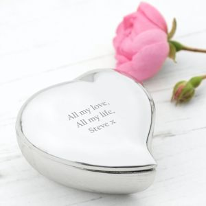 Personalised Heart Keepsake Box - new in home