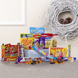 Tear And Share Retro Sweets Gift Hamper - hampers
