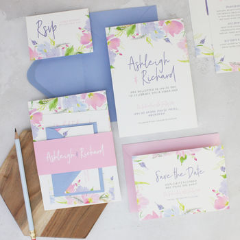 Eden Floral Wedding Invitation
