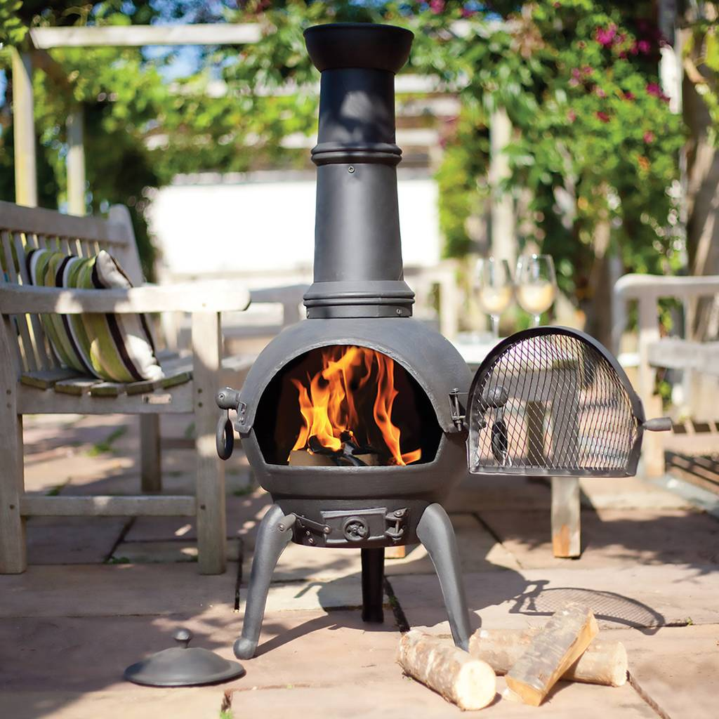 Large Cast Iron And Steel Chimnea