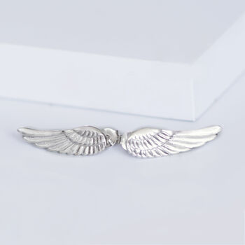 Gold Or Silver Angel Wing Stud Earrings