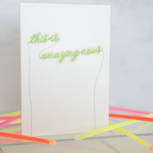 Neon Sign Congratulations Card