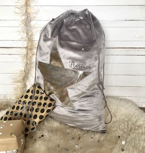 Personalised Metallic Silver Christmas Sack - stockings & sacks