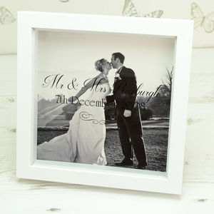Personalised Wedding Photo Box Frame