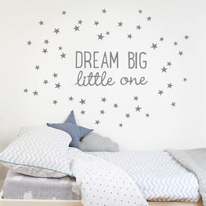 Dream Big Little One Wall Sticker - children's room