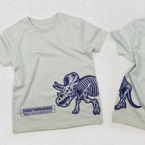 Child's Personalised Triceratops T Shirt