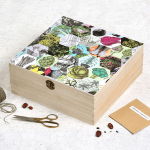 Personalised Gardeners' Veg Seed Storage Box - storage