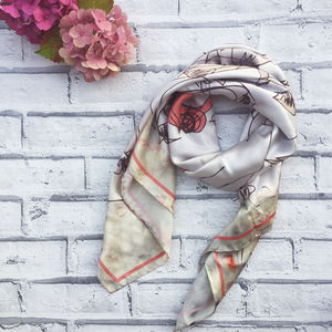 'Mari Lwyd' Square Silk Scarf - view all free delivery