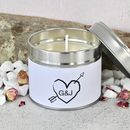 Couples Personalised Scented Soya Wax Candle