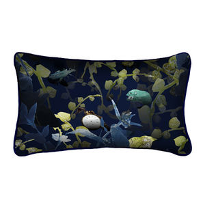Forest Undergrowth Silk Luxury Botanical Cushion - cushions