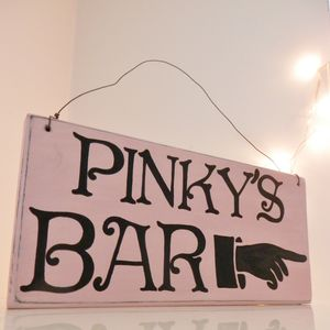 Personalised Bar Sign - outdoor wedding signs