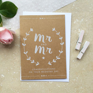 Mr And Mr Wedding Day Card