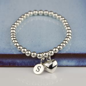 Personalised Children's Silver Heart Bracelet - christening jewellery