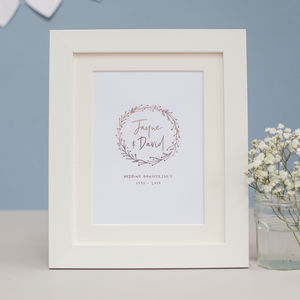 Happy Anniversary Personalised Foil Print