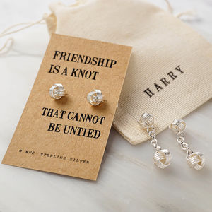 Friendship Knot Silver Cufflinks - what's new