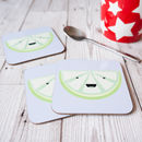 Cheerful Lime Single Coaster