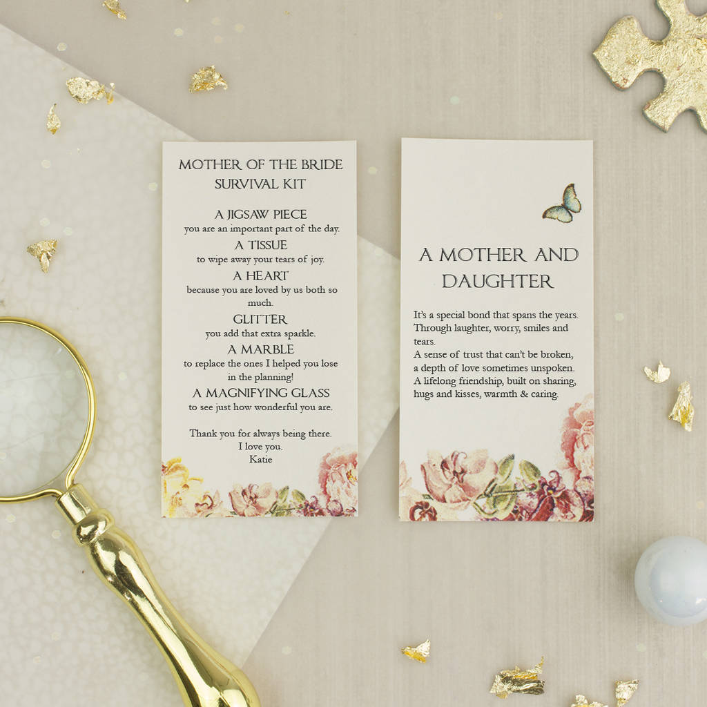 Personalised Mother Of The Bride Wedding Day Gift By Little Letter