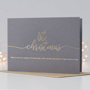 Make A Wish For A Baby's First Christmas Card - shop by category