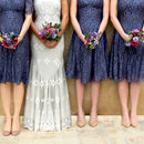 Lace Bridesmaids Dresses In Amethyst