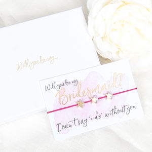 Will You Be My Bridesmaid Gift Boxed Wish Bracelet - bridesmaid accessories