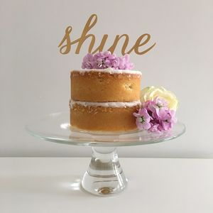 Shine Party Cake Topper
