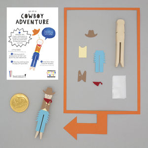 Make Your Own Cowboy Peg Doll Kit - traditional toys & games