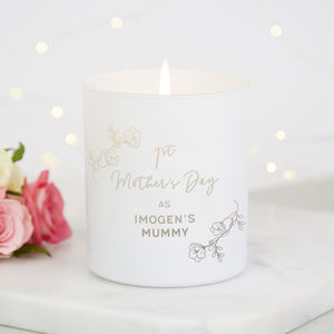 1st Mother's Day Gift Personalised Candle